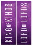 Set of 2 Purple Concrete Lent Banners