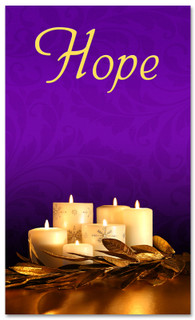 Advent Banner - ADV001 Hope Purple