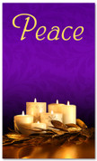 Advent Banner - ADV002 Peace Purple