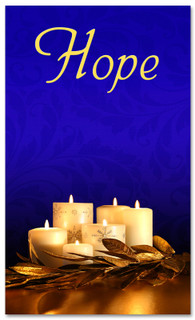 Advent Banner - ADV005 Hope Blue