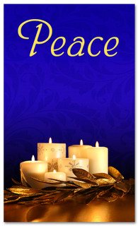 Advent Banner - ADV006 Peace Blue