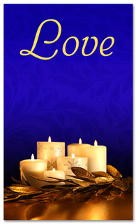 Advent Banner - ADV007 Love Blue