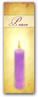 Advent banner in fabric adv012