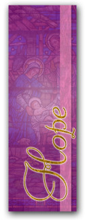Advent banner in fabric adv016