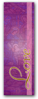 Advent banner in fabric adv018
