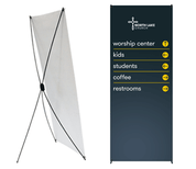 x-stand with banner 31.5x79