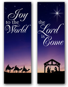 Christmas Nativity Scene Banners