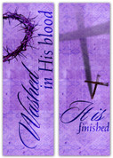 purple Easter Banners in fabric