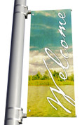 DS Light Pole Banner - Welcome 8
