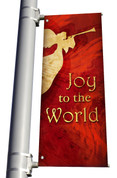 Joy to the World Red Christmas Church Banner