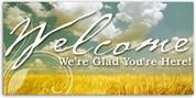 4x8 church welcome banner WCHZ015