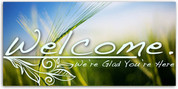 4x8 church welcome banner WCHZ014