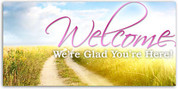 4x8 church welcome banner WCHZ013