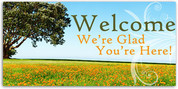 4x8 church welcome banner WCHZ012