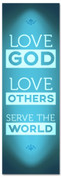 LG27 Love God - Serve - Blue