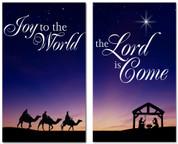 Christmas banner Nativity Scene 637