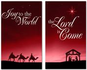 Christmas banner Nativity Scene 402