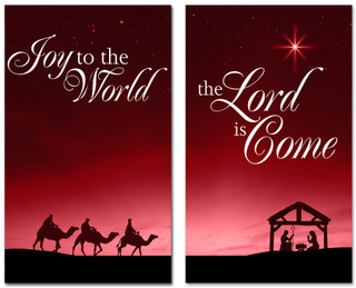 Christmas banner Nativity Scene 402