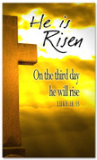 E055 He Is Risen Rays -xw