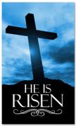 E013 He Is Risen Blue -xw