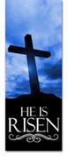 3x8 E013 He Is Risen Blue