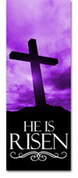 3x8 E014 He Is Risen Purple