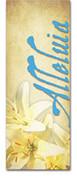 3x8 E032 Alleluia Lilies Blue