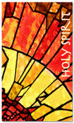 Spanish Pentecost Church banner - stained glass