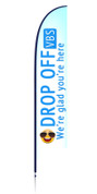 VBS feather banner - Drop off
