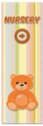 Church nursery banner - teddy bear on blankie