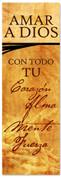Spanish Commandments church banner - Amar a Dios