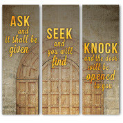 Christian Church Banner Collage - Ask, Seek, Knock