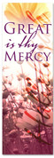 Spring Praise and Worship church banner - Great is thy Mercy