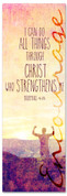 Encouraging church banner - Philippians 4:13 Do All Things With Christ