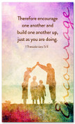 Encouraging church banner - 1 Thessalonians 5:11