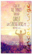 Encouraging church banner - Philippians 4:13 All Things Through Christ