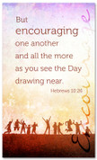 Encouraging church banner - Hebrews 10:26