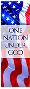 One nation under God - Red White and Blue patriotic banner