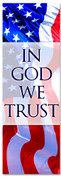In God we trust - Red White and Blue patriotic church banner