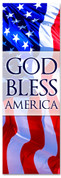 Red White and Blue patriotic church banner