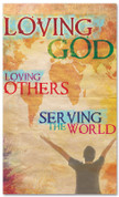 Love God mission banner - Christian Church Banner