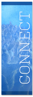 Blue connect banner - Christian Church Banner