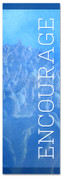 Blue Encourage banner - Christian Church Banner