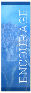 Blue Encourage banner - Christian Church Banner