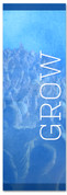 Blue grow banner - Christian Church Banner