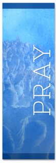 Blue prayer banner - Christian Church Banner