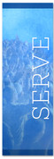 Blue serve banner - Christian Church Banner