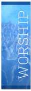 Blue worship banner - Christian Church Banner