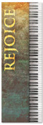 Piano design Church Worship banner - Rejoice