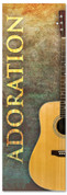 Guitar design Church Worship banner - Adoration